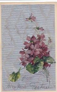 Loving Birthday Greetings, Bouquet of Violets, 10-20s