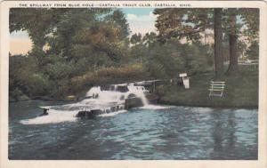 The Spillway From Blue Hole, Castalia Trout Club, CASTALIA, Ohio, 1910-1920s