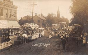 Mt Olive Illinois~German Day Parade~Remmert Bros~Implements~3 Views~1911 RPPC