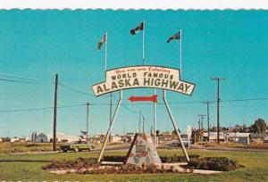 Canada British Columbia Dawson Creek Alaska Highway Sign