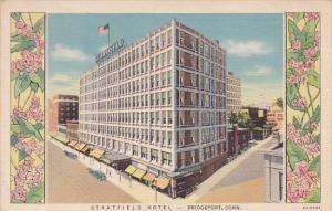 Connecticut Bridgeport Stratfield Hotel 1937 Curteich