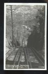 RPPC LOOKOUT MOUNTAIN CHATTANOOGA TENNESSEE INCLINE TRAIN REAL PHOTO POSTCARD