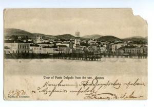 147340 PORTUGAL AZORES Ponta Delgada Vintage undivided back pc