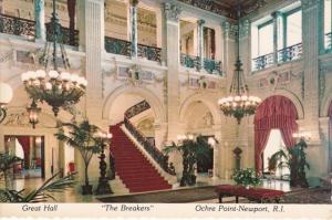 Rhode Island Newport Ochre Point The Breakers Cornelius Vanderbilt Mansion Th...