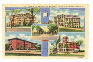 5Views, Some Of The Main College Buildings, Agriculture College, Fargo, North...