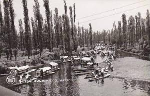 RP, Boats, Scene At Xochimilco, Mexico City, Mexico, 1930-1950s