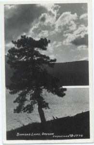 RP Diamond Lake Oregon OR by Eastman #B-1770 Real Photo 1946