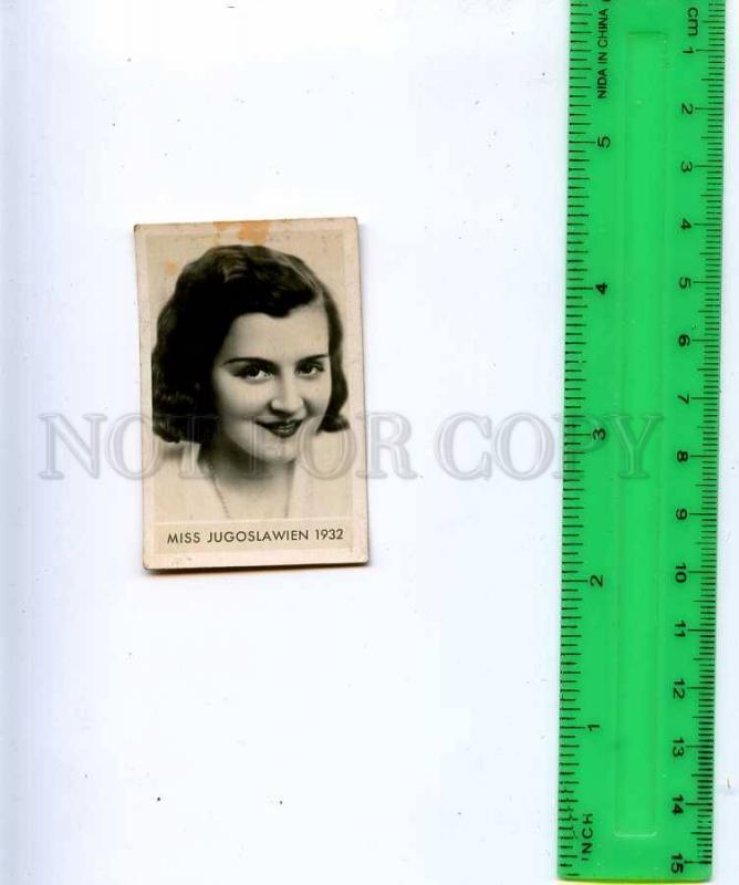 188459 Miss Yugoslavia 1932 year Vintage photo CIGARETTE card