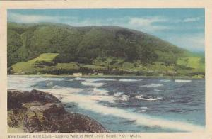 Looking West at Mont Louis, Gaspe, Quebec, Canada,  PU-00-10s