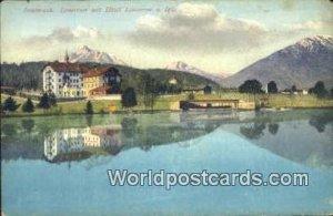 Lansersee mit Hotel Lansersee u Igls Innsbruck Swizerland Unused