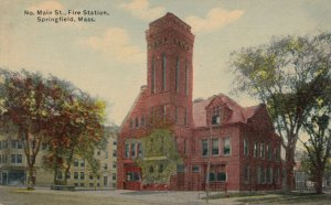 SPRINGFIELD , Massachusetts, 00-10s ; Fire Station , No. Main Street