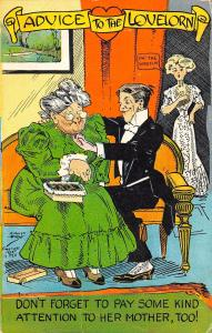 August Hutaf Comic~Advice to the Lovelorn~Pay Attention to Her Mother! Candy~PCK