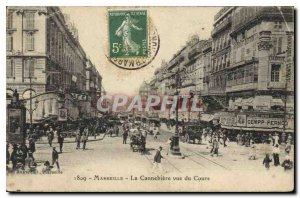 Old Postcard Marseille The Cannebiere view Course