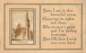 F97/ Hartington Nebraska RPPC Postcard c1910 Holy Trinity Church 2