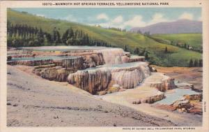 Wyoming Yellowstone National Park Mammoth Hot Springs Terraces 1948