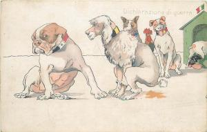 WW1 Dogs Caricatures WAR DECLARATION Political Satire DICHIARAZIONE DI GUERRA
