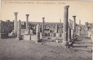 Tunisia Ruines Romaines de Timgad Maison aux Jardinieres