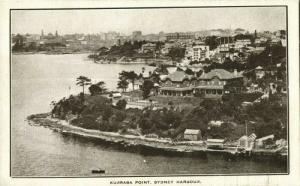 australia, SYDNEY, N.S.W., Harbour, Kurraba Point (1905) Postcard
