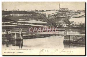 Old Postcard Bridge and St Francois Plougniel