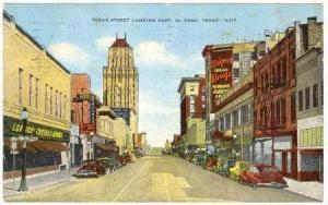 Texas Street looking East, El Paso, PU-1953