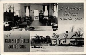 Natural Bridge Virginia~Green Top Court Coffee Shop~Cabins & Room~Mrs Lotts~1940