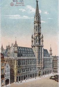 Belgium, Brussels, Bruxelles, Hotel de Ville, 1910s unused Postcard