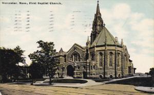 First Baptist Church, WORCESTER, Massachusetts, PU-1912