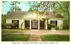 Vintage Postcard Front View Roosevelt's Little White House Warm Springs GA