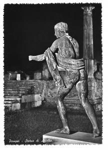 Italy Pompeii Art Statue of Apollo Glossy Photo 4X6 Postcard