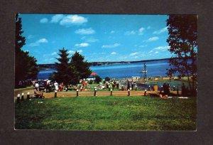 ME Swimming Pool City Park Penobscot Bay Belfast Maine Postcard Carte Postale