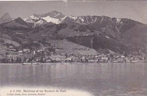 Switzerland Montreux et le Rochers de Naye