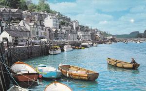 West Looe, small coastal town fishing port, south-east Cornwall, UK, 1940-60s