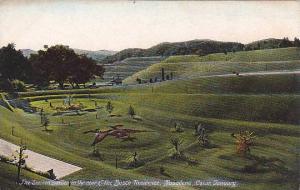The Sunken Garden In The Rear Of The Busch Residence, Pasadena, California, 1...