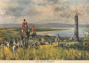 Waterford Irish Fox Hunting Painting Postcard