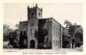 Williamston North Carolina Martin Courthouse Exterior Antique Postcard K14548