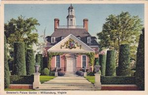 Virginia Williamsburg Governors Palace Garden