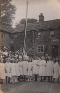 Albert Gill Nottingham Undertaker Morris Maypole Dance Pole Old Newark Postcard