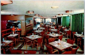1950s Kansas City MO Postcard THE GOLDEN OX RESTAURANT KC Stockyards Chrome