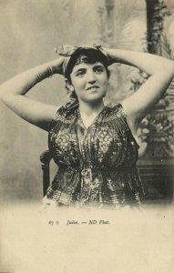 PC CPA JUDAICA, TYPES & SCENES, JUIVE, Vintage Postcard (b25192)