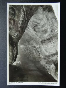Derbyshire CASTLETON BLUE JOHN CAVERN Entrance to Interior - Old RP Postcard