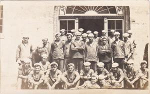 Military Sailors Posing In Uniform Real Photo