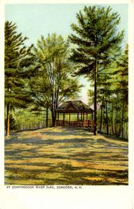 NH - Concord. Contoocook River Park, Gazebo