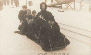 RP: WINNIPEG , Manitoba , Canada , 1900-10s ;  A Toboggan Party