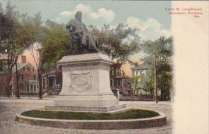Maine Portland Henry W Longfellow Monument 1908