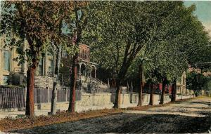 Galena? Illinois~Double Arch Entrance Steps~Residential Street c1910 Postcard