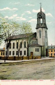 MA - Malden. Universalist Church, Razed circa 1911