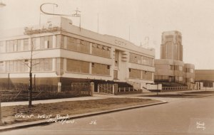 Great West Road Brentford COTY Antique Real Photo Postcard