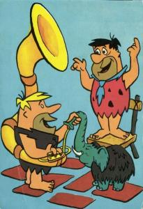 American Animated Television Sitcom THE FLINTSTONES, Fred & Barney Rubble (1966)