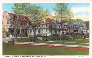 Wheeling West Virginia~Woodsdale Historic District~Big Homes~1929 Postcard