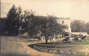 Cuttingsville VT Socony Gas Station Storefront Old Cars RPPC
